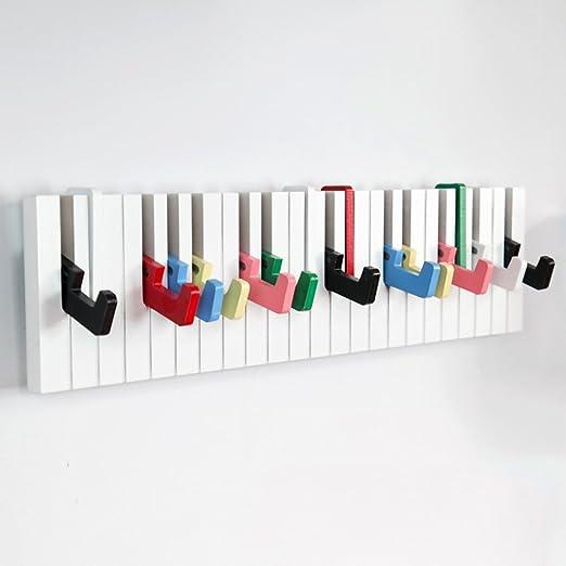 ZGCYMJ CYJZ® Woody Piano Decoración Decoración Escalera Escalera Colgador Colgante Perchero Blanco Portátil Multiusos (Color : #1): Amazon.es: Hogar