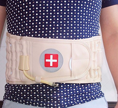 [Back Belt Spinal Pain Relief Brace Support Physic Decompression Fills With Air, It Is Very Light Help Relieve Pressure Off Pinched Nerves] (Loggers And Joggers Costume)