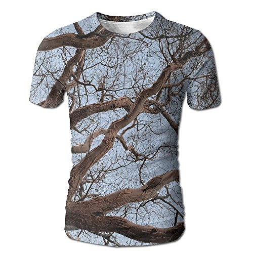 Mens Tree Branch Casual T-Shirt For Sports Baseball Gym Workout Jogging Hiking Pullover Tees - Cottonwood Village