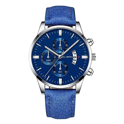 Dylung Reloj para Hombre de Moda Caballero Reloj de Pulsera Analógico de Cuarzo Relojes de Hombres