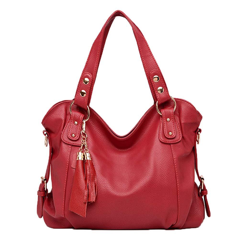 Handtasche für Frauen Umhängetaschen Kapazität Vintage elegante schöne Damenhandtaschen Mode Mode Mode Leder Quaste Tasche B07PRLK8Z4 Henkeltaschen Schöne Farbe 5a5c21