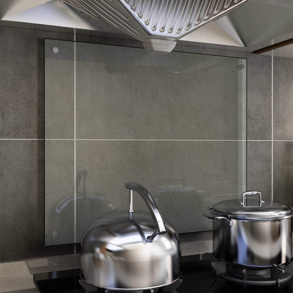 Compra Tidyard - Protector antisalpicaduras para Cocina, Color Blanco, 70 x 50 cm, de Cristal Templado en Amazon.es