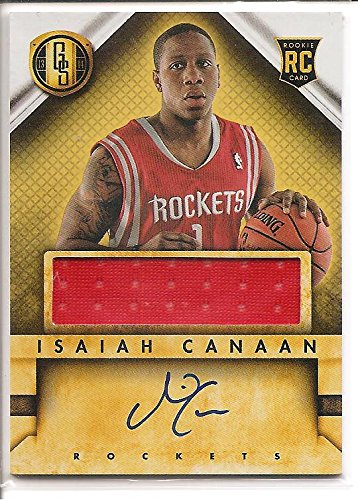 4cc067778 Isaiah Canaan Houston Rockets 2013-14 Panini Gold Standard Autograph    Jersey Rookie Basketball Card