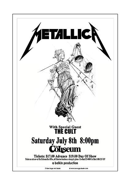 Amazon Com Raw Sugar Art Studio Metallica 1989 Cleveland