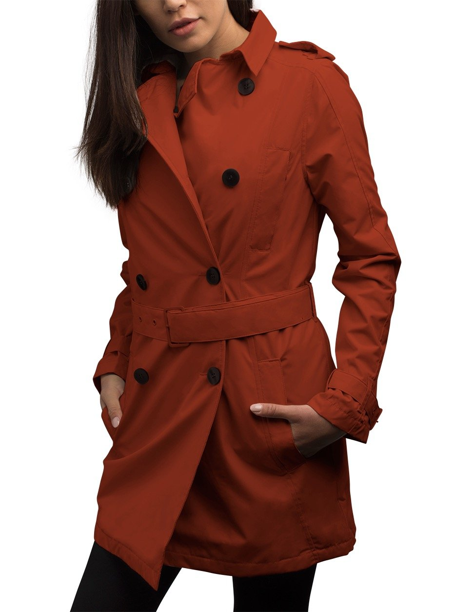 SCOTTeVEST Women's Trench Coat - 18 Pockets - Travel Clothing PRK L