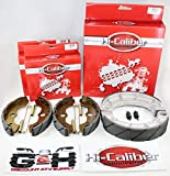 WATER GROOVED Front & Rear Brake Shoes & Springs SET for the Honda 2000-2006 TRX 350 Rancher ATV