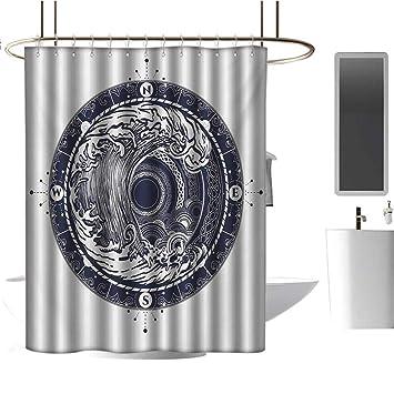 Amazon.com: Cortina de ducha Qenuan resistente brújula ...