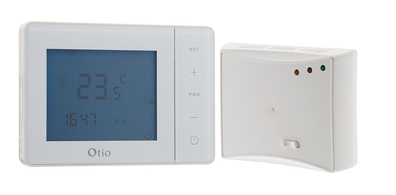 Thermostat programmable sans fil blanc