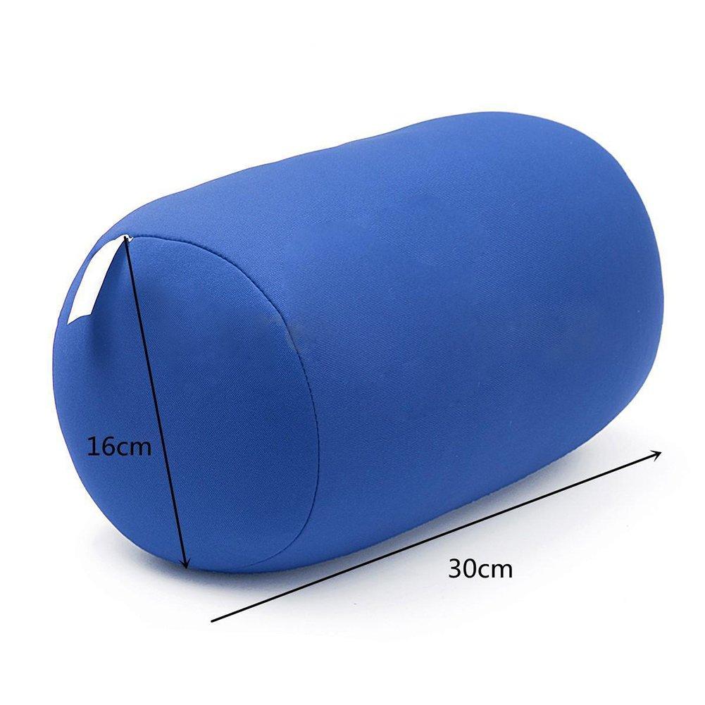 Muy Suave y Esponjoso NANAD Tama/ño Libre con peque/ñas microperlas y una Funda el/ástica para Apoyo Adicional Coj/ín de microcuentas con microcuentas Azul