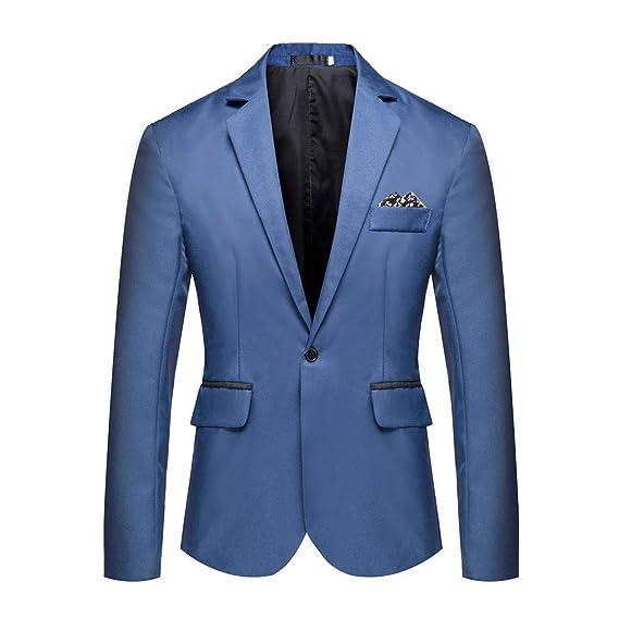 Harpily Chaqueta de Traje para Hombre, Americana Hombre Sólido Color de Encanto Formal para Negocios Un Botón Apto Traje Blazer Chaqueta de Abrigo ...
