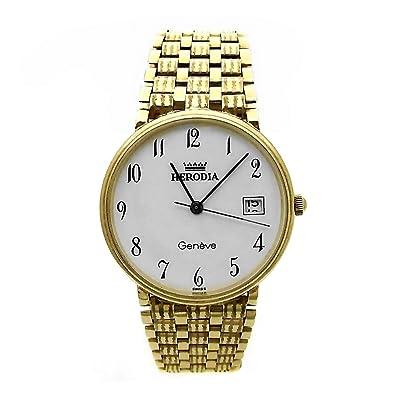 Reloj Herodia oro 18k hombre panter rayado 6412-1 [AB3894] - Modelo: 1647976: Amazon.es: Joyería