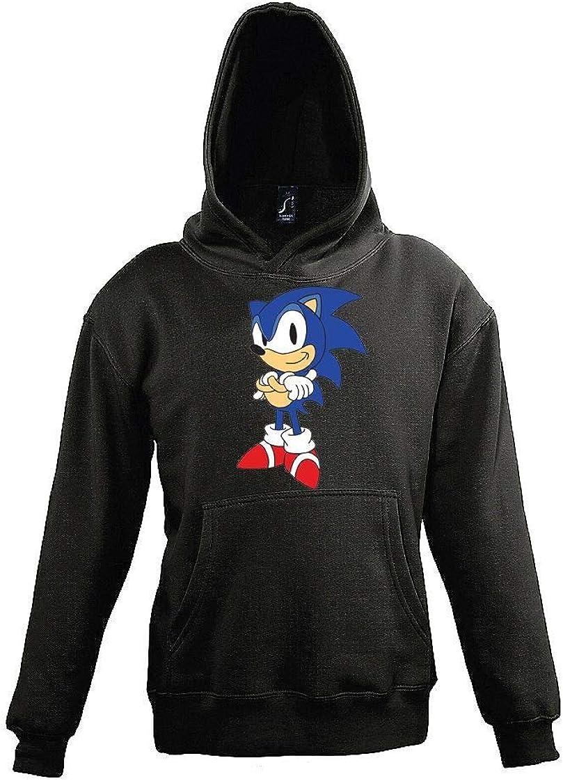 disponibile in diversi colori con motivo Sonic 2 Youth Designz Felpa con cappuccio da bambino 4-12 anni per ragazzi e ragazze taglia 104-152