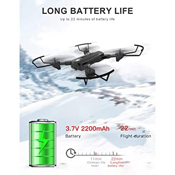 Ballylelly Drone con cámara SG900 Quadcopter Plegable 720P Drone ...