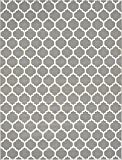 "Unique Loom Trellis Collection Dark Gray 12 x 16 Area Rug (12' 2"" x 16')"