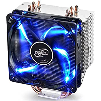 DEEPCOOL GAMMAXX 400 CPU Air Cooler with 4 Heatpipes, 120mm PWM Fan and Blue LED for INTEL / AMD CPUs(AM4 Compatible)