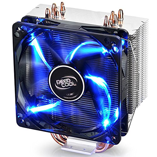 DEEPCOOL GAMMAXX 400 CPU Air Cooler with 4 Heatpipes, 120mm PWM Fan and Blue LED for Intel/AMD CPUs (AM4 Compatible)