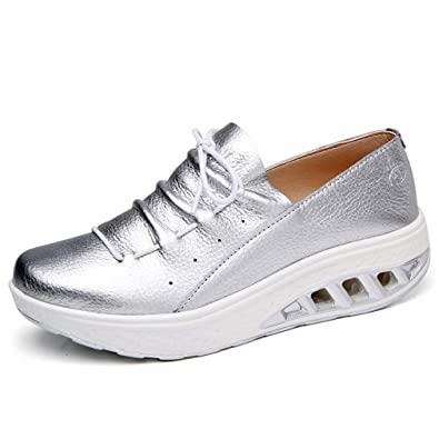 best service d9b05 3c58b Solshine Damen Leder Plateau Sneakers Shape up Fitness Walkmaxx Turnschuhe