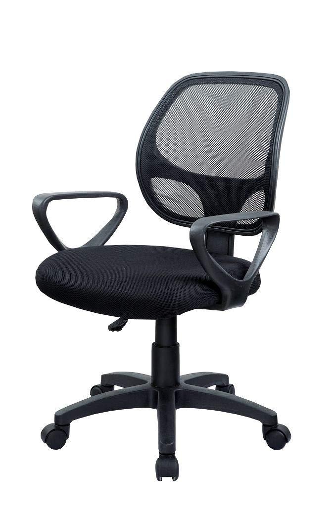 Duhome Fauteuil de bureau Noir Chaise pivotant de bureau en tissu r/églable en hauteur ergonomique 0431