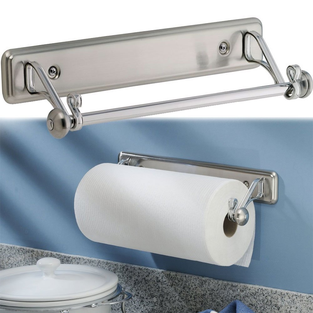 Amazon.com: New York Kitchen Wall-Mount Paper Towel Holder ...