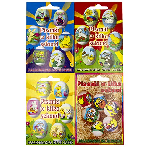 48 Easter Eggs Shrink Wraps Sleeve Decoration (Funny)