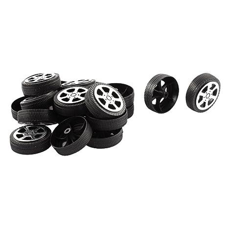 TOOGOO(R) Ruedas de juguete Rollo de plastico 2 mm diametro eje Ruedas de