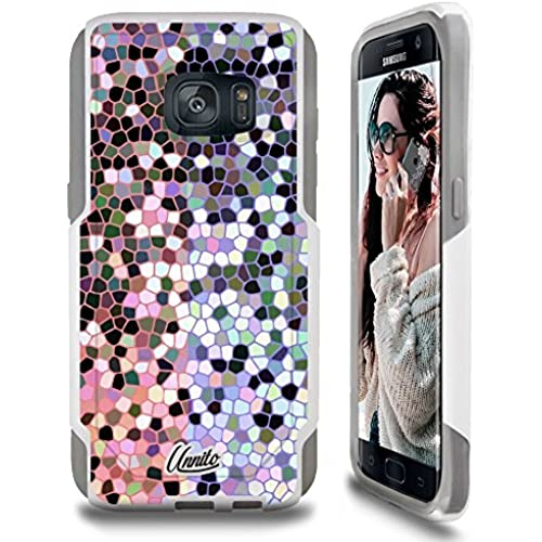Galaxy S7 Case Unnito [Custom] Dual Layer - Shock Protection [Hybrid Cover] - ( White - Stained Glass ) Sales
