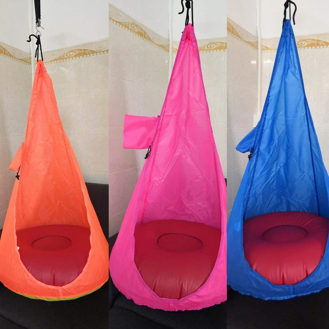 hiriyt Home Child Hammock Chair Kids Swing Pod Outdoor Indoor Hanging Seat Hammocks