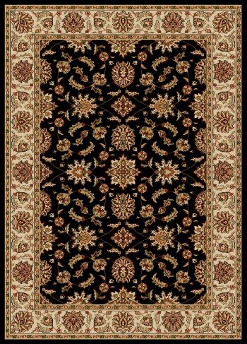 picture of Radici 1592 COMO Rugs, 3-Feet 3 by 4-Feet 11-Feet, Black