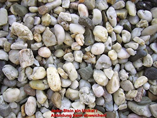 10 bolsa de guijarros de cuarzo claro a 20 kg, 8-16 mm: Amazon.es: Hogar