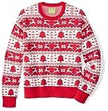 Ugly Fair Isle Unisex Jacquard Crewneck Christmas Sweater X-Large Red/White