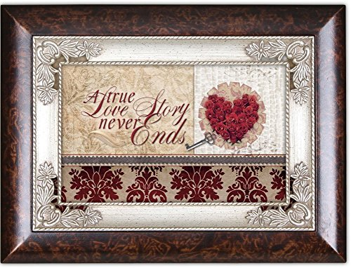 A True Love Story Heart Burlwood Cottage Garden Italian Inspired Traditional Music Box Plays Unchained Melody