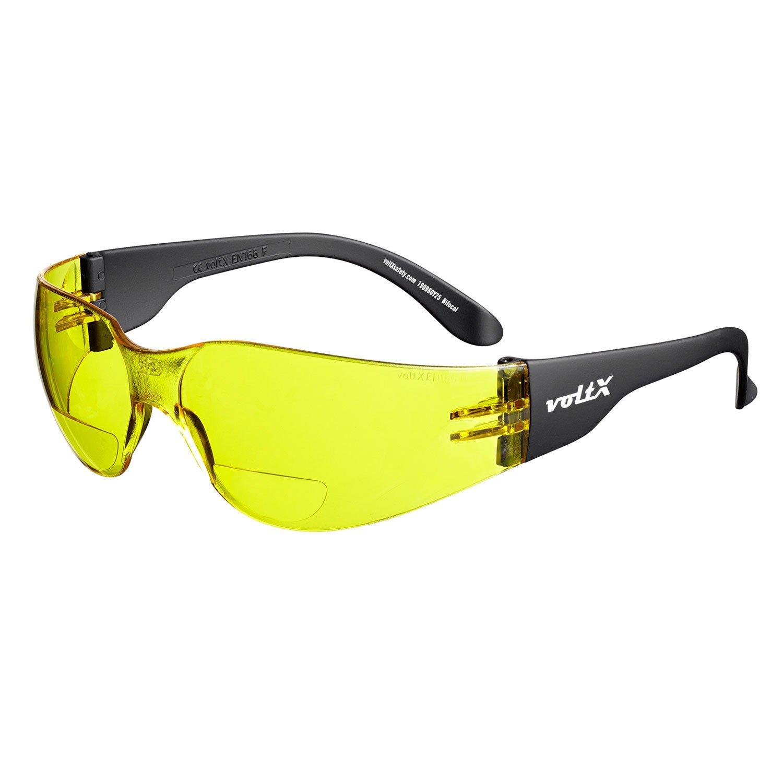 voltX 'Grafter' BIFOKALE (KLAR +1.5 Dioptrie) Leichtgewichts Industrie Lesen Schutzbrille, CE EN166F Zertifiziert/Sportbrille für Radler – Safety Reading Glasses StraightLines