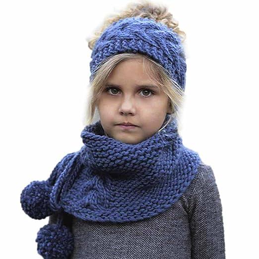 Amazon Wuyimc Winter Wool Knitted Handmade Hats Baby Girls