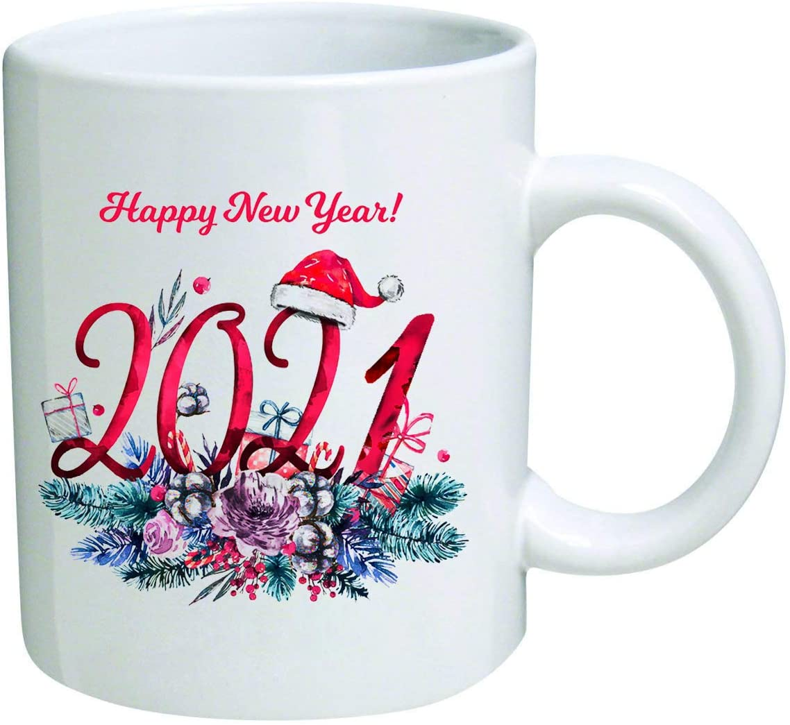 Amazon Com Chguangm 2021 Happy New Year New Year S Gift Holiday Coffee Cup I Wish You A Merry Christmas And Happy New Year Ceramic Cup Funny And Novel Gift Cup Christmas Holiday Decoration 10 Ounce