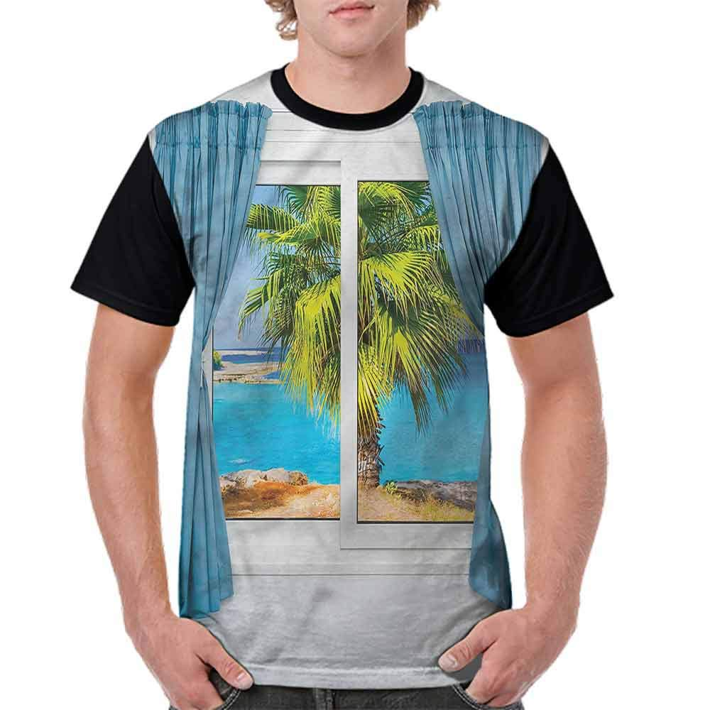 Performance T-Shirt,Tropical Beach Sun Fashion Personality Customization