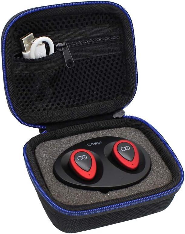 GUBEE Duro Viaje Estuche Bolso Funda para Guzack/Chuangmeida Mengonee TWS K2 Auriculares estéreo Bluetooth 4.1 inalámbricos Laterales in-Ear