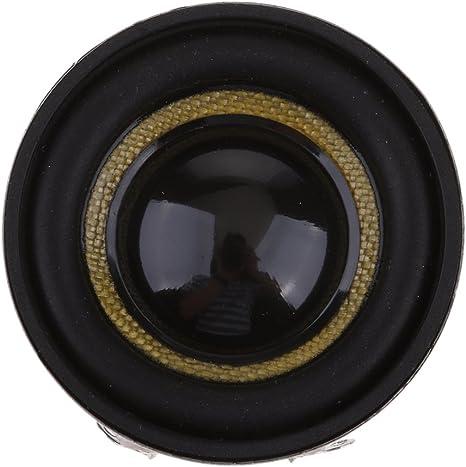 F Fityle 2pcs Altavoz de Audio Impermeable Repuestos de Reparación, 1.5 Pulgadas, Negro