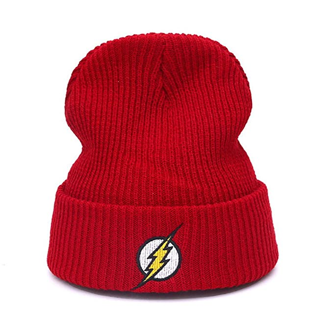 ea5a4034d99c9 Amazon.com  The Flash Hero Barry Allen Embroidery Winter Hats ...
