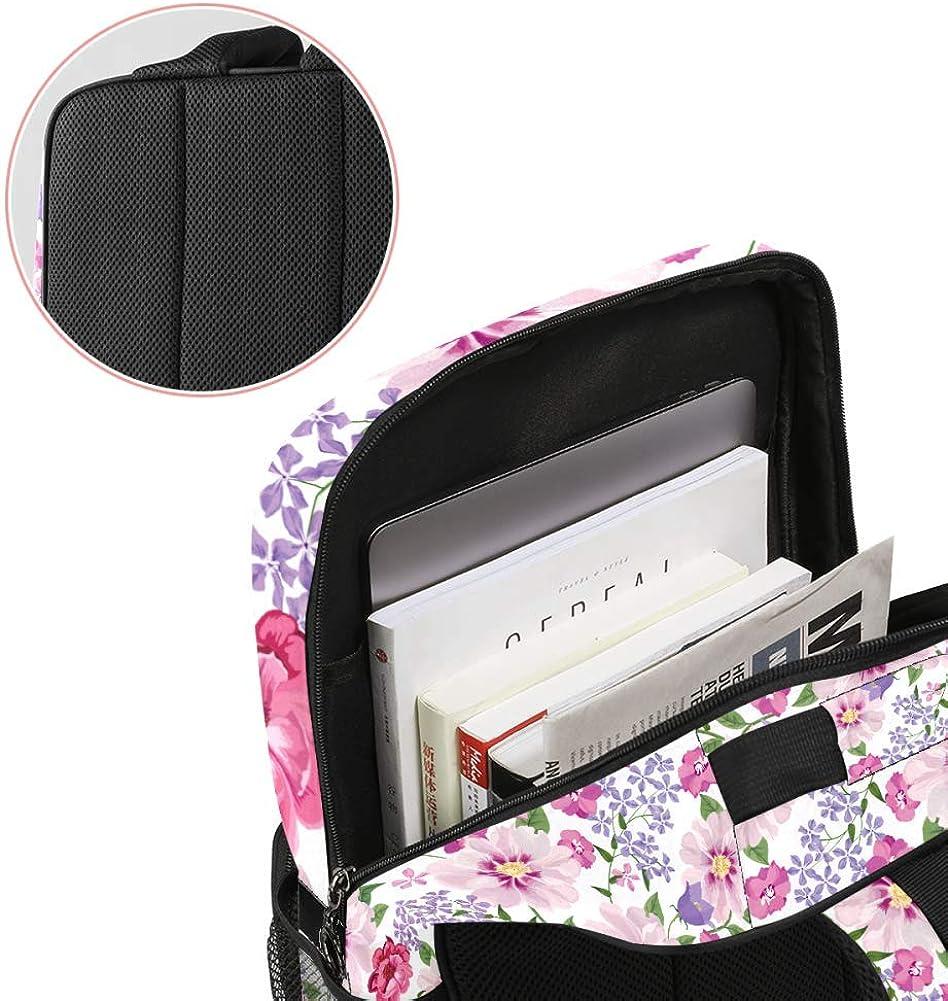 Floral Flower Spring Print School Backpack Laptop Backpacks Casual Bookbags Daypack for Kids Girls Boys and Women