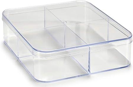 AR Caja metacrilato Organizador, 12x12x3 cm: Amazon.es: Hogar