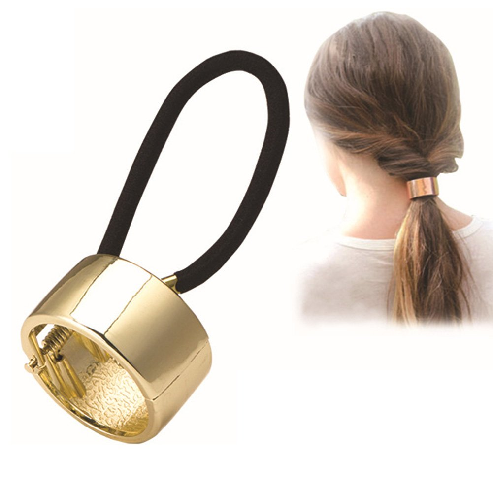 Gprince Nice Design Alloy Metal Glitter Cuff Wrap Ponytail Holder Fashion Hair Jewelry Hair Clip Hairband JF-XY-0615-PL27