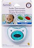 Summer Pacifier Thermometer, Teal/White