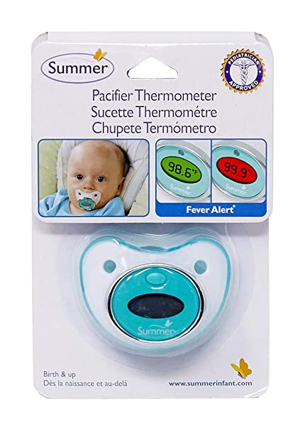 NEW SUMMER INFANT PACIFIER THERMOMETER BIRTH /& UP FEVER ALERT DAILY BABY HEALTH
