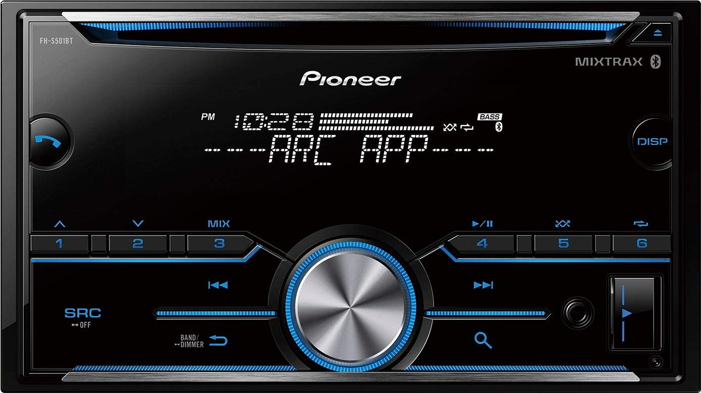 Pioneer FH-S501BT Double Din CD Receiver with MIXTRAX