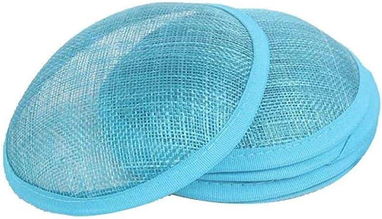 Dark Blue Round Sinamay Base for Fascinator Hat Millinery Making DIY Crafts