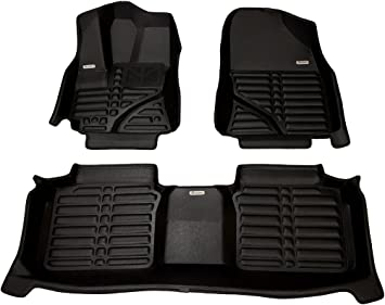 TOYOTA AVENSIS ALL MODELS 3 Piece Heavy Duty Rubber Taxi Style Floor Mat Set