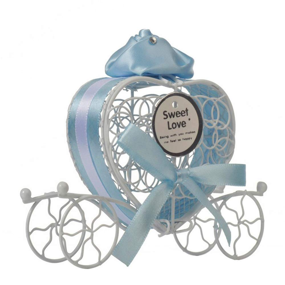 ️1 Pc Candy Boxes Romantic Carriage Sweets Chocolate Box for Wedding Party Home Decor (Blue) by Caslia (Image #1)