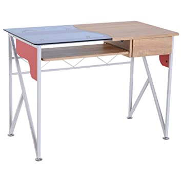 Z-Computer Desk Writing Table With Sliding Keyboard Tray Study Workstation