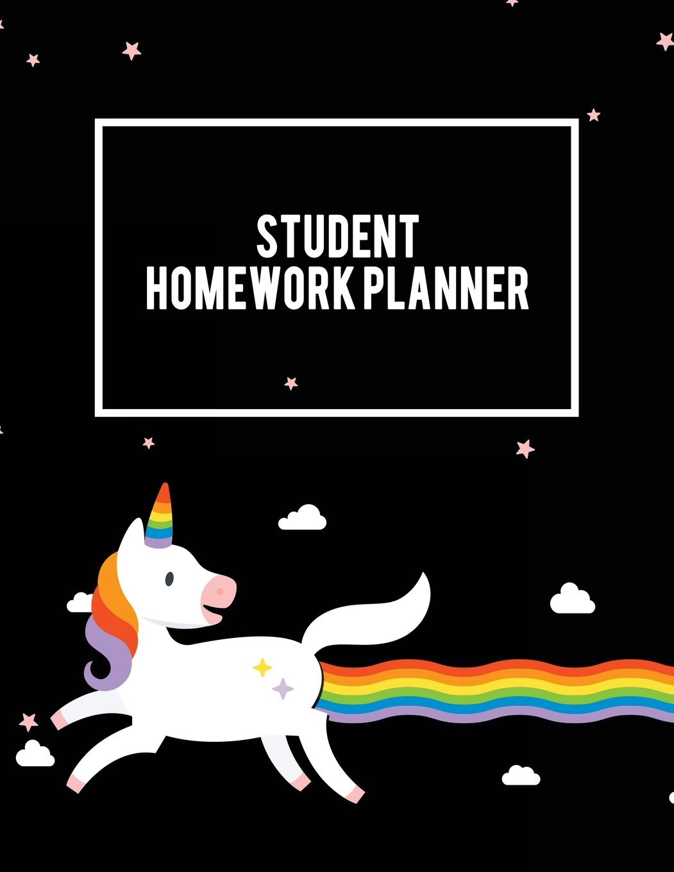 Student Homework Planner: Unicorn, Kids Daily Planner Large Print ...