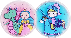 Hilph® Kids Ice Pack for Boo Boo's Injury, 2 Pack Reusable Fun Cartoon Ice Pack Kid's Hot Cold Pack for Children's Pain Relief, Sore Joints, Fevers, Neck, Head, Arms, Legs, Body - 4.3 Inch Each